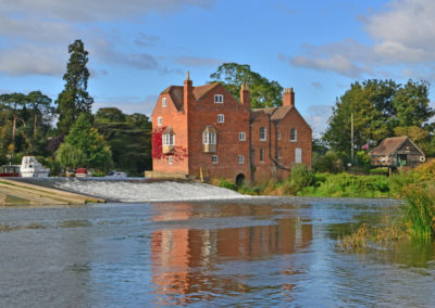 Fladbury Mill & River Avon, Worcs