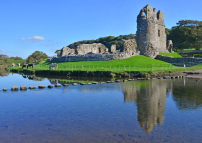 Ogmore castle & Ogmore River, South Glamorgan