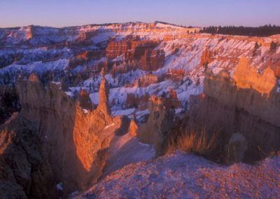 Winter Sunrise, Queens Garden Trail, Bryce Canyon, Utah