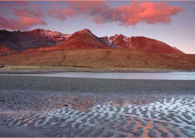 Afterglow, Cuillin from Loch Brittle, Skye