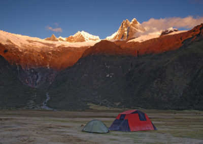Alpenglow, Jancapampa Camp, Alpamayo Circuit (THIS)