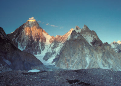 Alpenglow on The Gasherbrums, Concordia, Pakistan