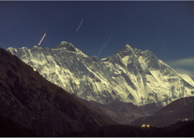 Everest Group by Moonlight, with Tengboche Monastery PDI