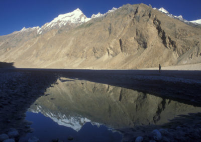 Unnamed peak reflection, Braldu River, Pakistan