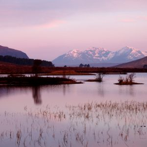 An Teallach at dawn from Loch Droma