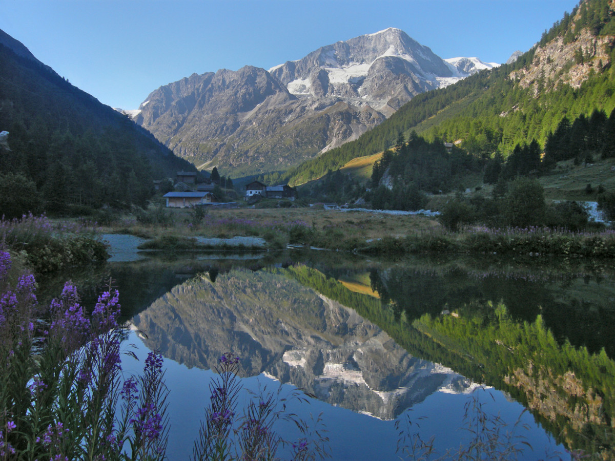 Pigne D'Arolla reflected