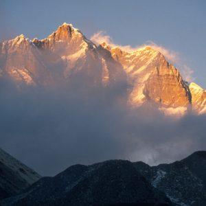 Lhotse at Sunset